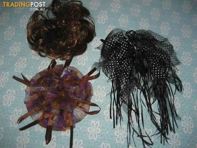 3 Bow & Clips - Hair Accessories