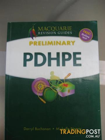 HSC TEXTBOOKS - PDHPE preliminary Macquarie revision guides