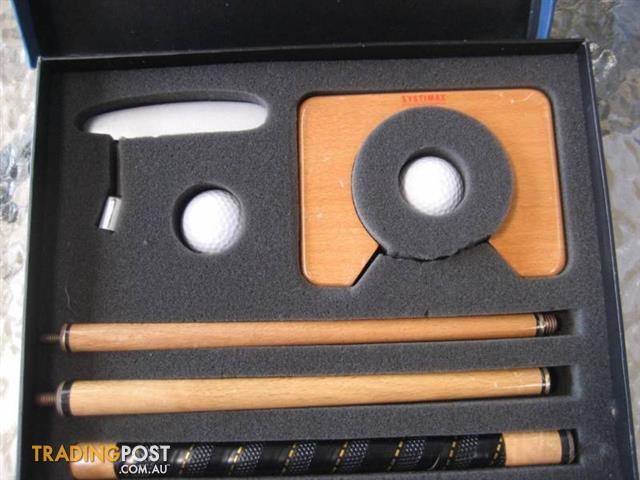 Indoor Portable Putting Golf Practice Travel Putting Gift Set