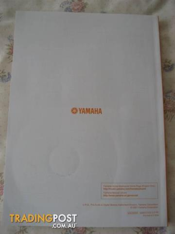 YAMAHA DGX- 230 Owner's Manual And CD