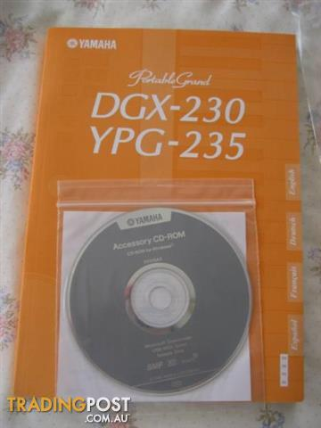 YAMAHA DGX- 230 Owner's Manual And CD