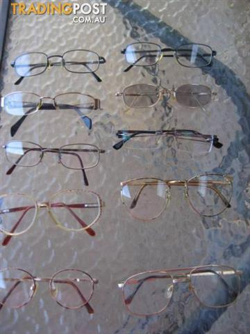 10 glasses - frames plastic and metal