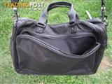 SABA Laptop black Leather Bag