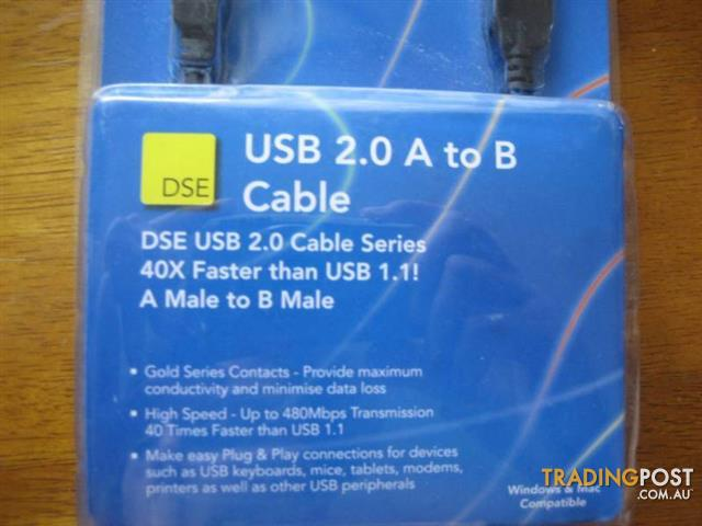 USB 2.00 A to B Cable