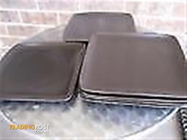 SIX Bay swiss food homewares squre brown plates