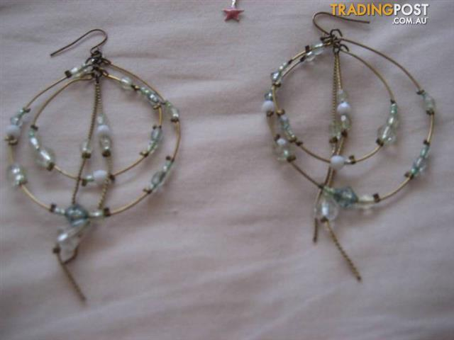 3 Long Earrings Handmade $10 all