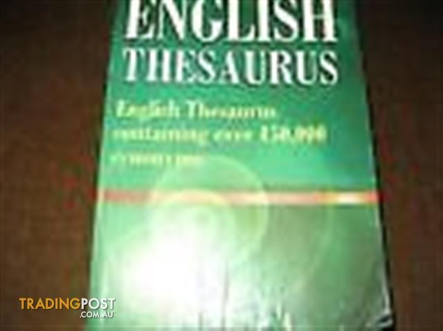DICTIONARIES ENGLISH - THESAURUS - PRIMARY STUDENT