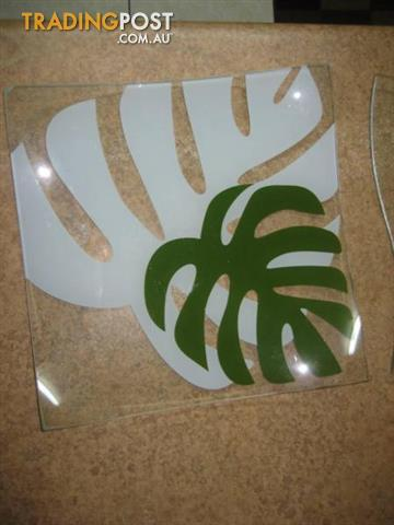 2 Big Glass Plates Both for $10