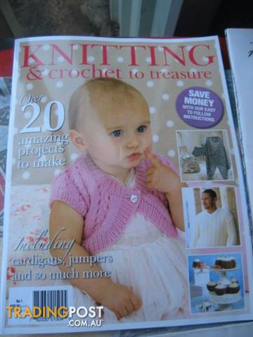 3 MAGAZINES Kentting, Crochet and making guilts