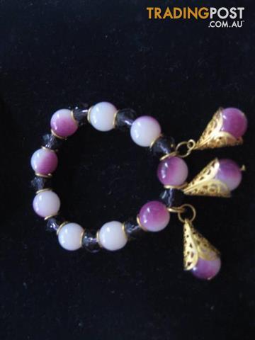 New Handmade Bead Crystal Woman's Bracelet - Pacific Island
