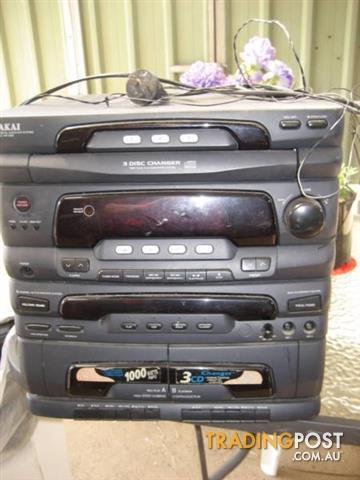Vintage AKAI Compact Disc Cassette Receiver Model ac - M 1000