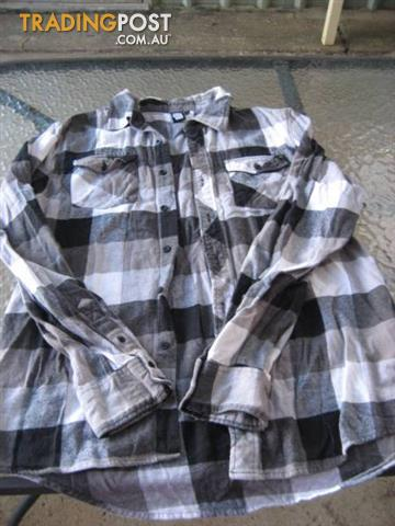 LOST HIGHWAY Sleeve Check Shirt sz L