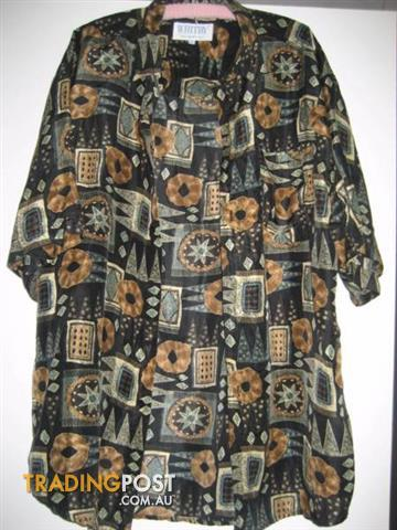 Men Shirt WHITBY 100% Washed Silk XL