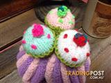 Hand-knitted Cupcake Design Tea Cozy/Baby Beanie - Geelong