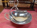 Decorative Twisted Silver Display Bowl - Geelong