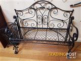 Black Ornate Metal Steel Garden Bench Seat In Geelong