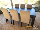 Freedom Solid Timber Dining Table & 6 chairs