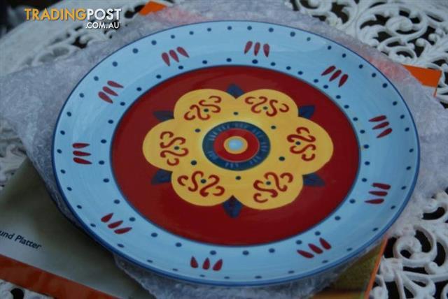 CASA DOMANI Round Platter Marrakech plate