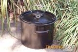 Vintage German Cast iron Enamel Pressure Cooking Pot Pan Heavy