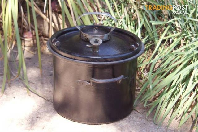 Vintage German Cast iron Enamel Pressure Cooking Pot Pan Heavy