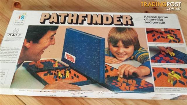 Vintage PATHFINDER Board GAME John Sands 1977 Complete