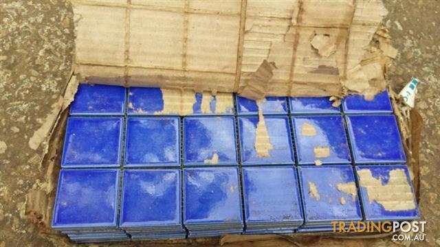 Blue Ceramic Floor Tile Wall TILES 10 sheets 30 x 30 cm