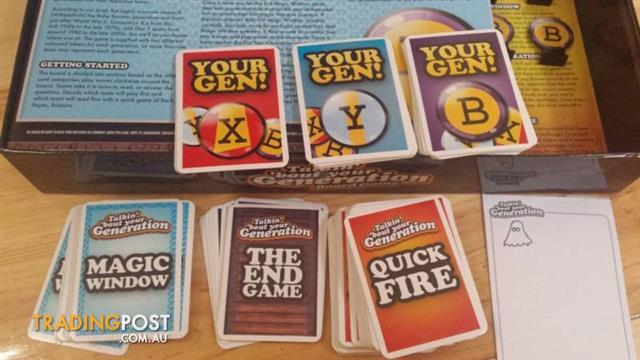 Family BOARD GAME ~ TALKIN' 'BOUT YOUR GENERATION