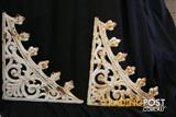 Vintage Antique CAST IRON LACEWORK decorative house metal edging