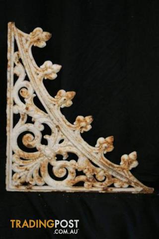 Vintage Antique CAST IRON LACEWORK decorative house metal edging