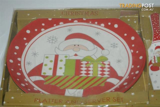 Christmas PLATTER & SERVER PLATE set