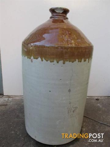 Huge old STONEWARE Demijohn JAR