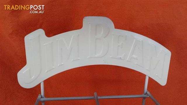 JIM BEAM Bourbon HANGING BAR STAND Advertising