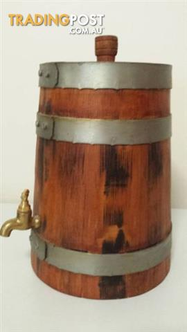 NEW OAK PORT CASK 3L Hand Coopered Upright WINE Barrel
