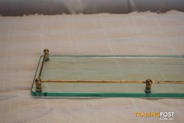 Vintage Retro glass BATHROOM SHELF