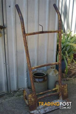 Vintage Heavy METAL SACK HAND TROLLY STEEL BAG Truck Industrial