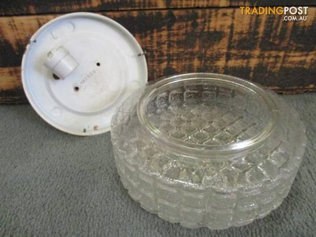 Vintage Retro clear GLASS LIGHT FITTING