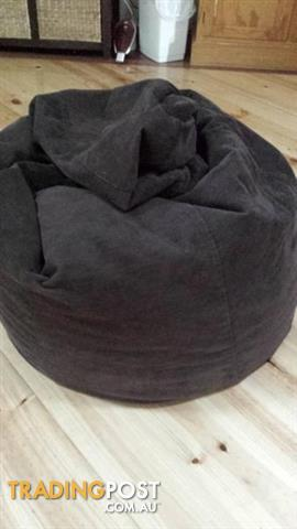 BEANBAG BROWN CORD fabric Bean Bag Adult