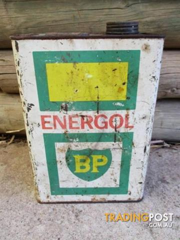 BP ENERGOL PETROL TIN