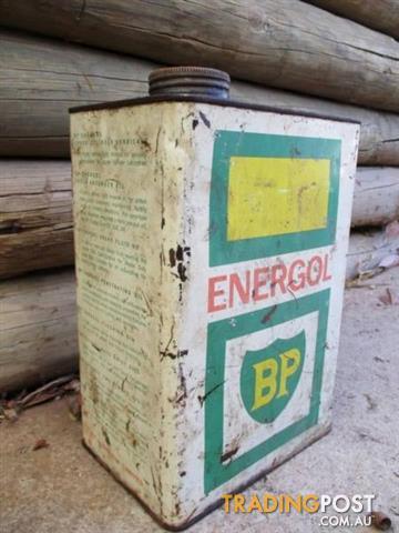 BP ENERGOL PETROL TIN