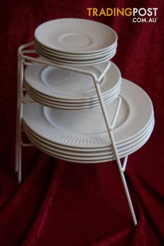 Vintage Corner Cupboard Plate Stacker 4 Tier for Pantry Kitchen