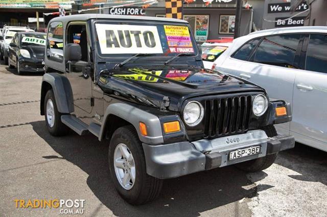 2004 jeep wrangler sport 4x4 tj 2d hardtop for sale in minchinbury nsw 2004 jeep wrangler. Black Bedroom Furniture Sets. Home Design Ideas