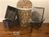 Variety of Wicker and wire baskets