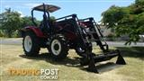 YTO -UWEN 120 hp 4x4 tractor with front end loader and 4 in 1 bucket