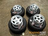 Brand new quad wheels and tyres