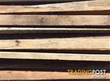 Stringy bark hard wood timber purlins 50 years old