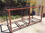 Fire wood Steel storage or stillage
