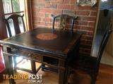 Decorative black lacquer Chinese table/Mahjong table