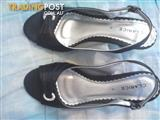 Clarice black ladies shoes.