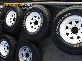 Toyota Land Cruiser.. Sunraysia rims 8JJX15 SUPER DIGGER 31X10.5
