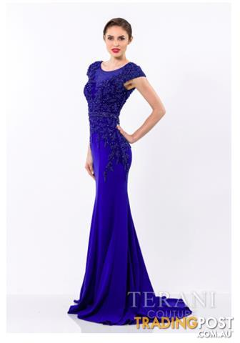 Terani Couture gown ROYAL Size 14 1522E0469A RRP $1350
